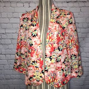 AGB FLORAL LIGHT WEIGHT BLAZER
